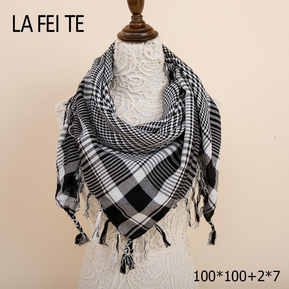 Plaid Bandana Square Cotton Winter Scarf Women Warm Shawl Foulard Femme Head  Neck Hair Viscose Hijab Women Scarf For Ladies 2018 Online with   27.64 Piece on ... 1d4d8dac30e