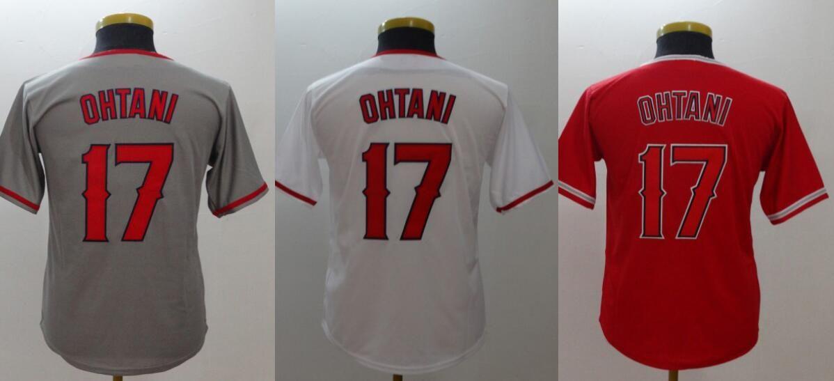 pretty nice 885a6 c9326 Kids Los Angeles New #17 Shohei Ohtani Youth Baseball Pro Sports Team  Jerseys Shirts Uniforms Custom Cheap Stitched Embroidery Free Shipping