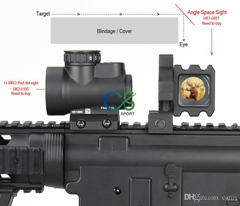 E.T Dragon 6063 Angolo di alluminio Attrazioni w / Standard Picatiny Mounts Hunter Rifle Scope Sights cl1-0401