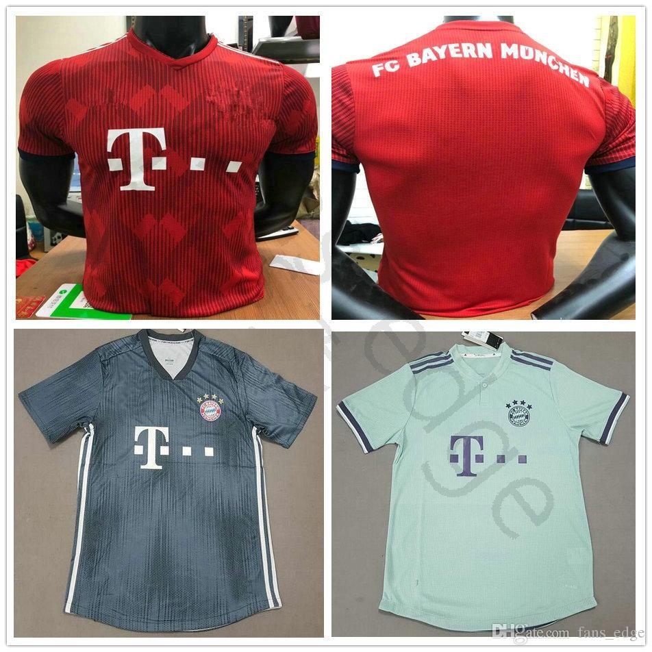 Compre Jogador Versão 2018 2019 Bayern De Munique Casa Camisas De Futebol  KIMMICH TOLISSO ALABA JAMES MULLER BOATENG VIDAL HUMMELS Camisa De Futebol  ... 2377a6ad5cb99