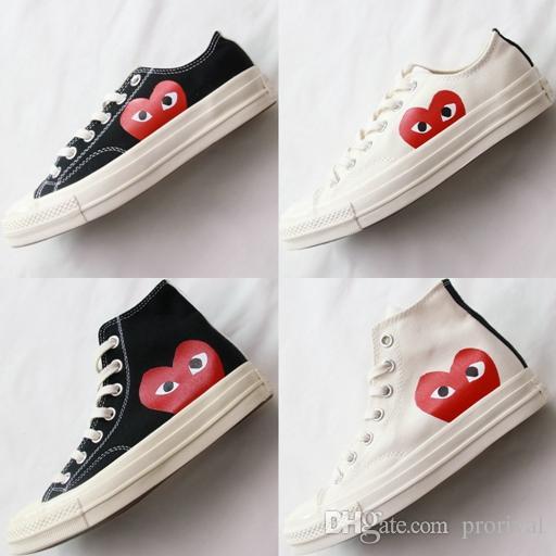 Compre Moda Zapatos De Skate De Lona De Los Años 70 Originales De Zapatos  De Lona Clásicos De 1970 Nombre Conjunto CDG Jugar Big Eyes Skateboard  Zapatillas ... 32f4e31e8aa