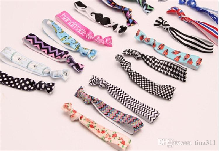 New Fashion cute Knot Elastic Hair Rubber Bands Ponytail Hair rings Bracelets fabric knotted headwear hair accessories B0987