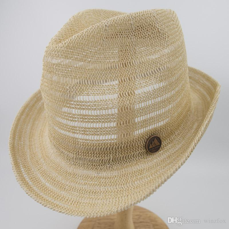 57d3e3dccaf EPU-MH1852 Knitted Paper Straw Sun Natrual Style Hat Unisex Summer ...