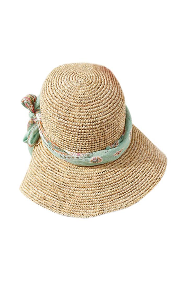 5a2a3989b1b Ladies Korea Hot Wind Cap Along The Shade Of Green Streamers Big Straw Hat  Beige Cloche Hat Cool Hats From Haydena