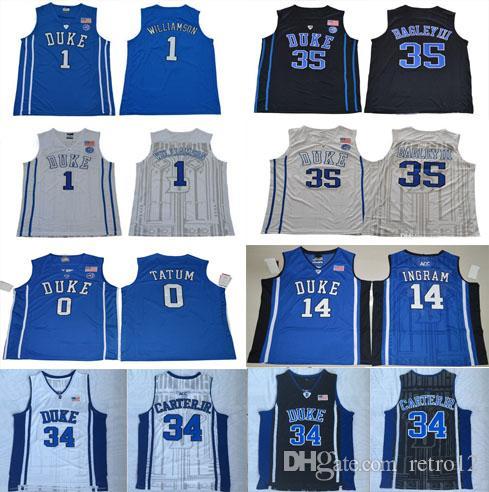 078d9307111c Duke Blue Devils Basketball 1 Zion Williamson 2 Cam Reddish 5 RJ ...