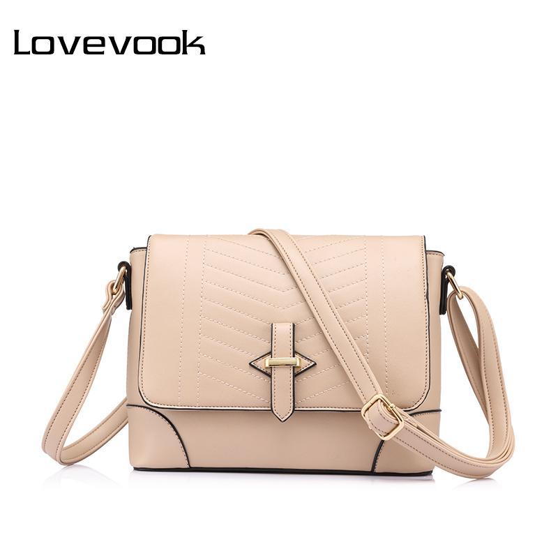 76d0da96c0ef8 LOVEVOOK Brand Fashion Women Messenger Bags Female Small Crossbody Shoulder  Bags High Quality Solid Artificial Leather Handbag Leather Bags Crossbody  Purses ...