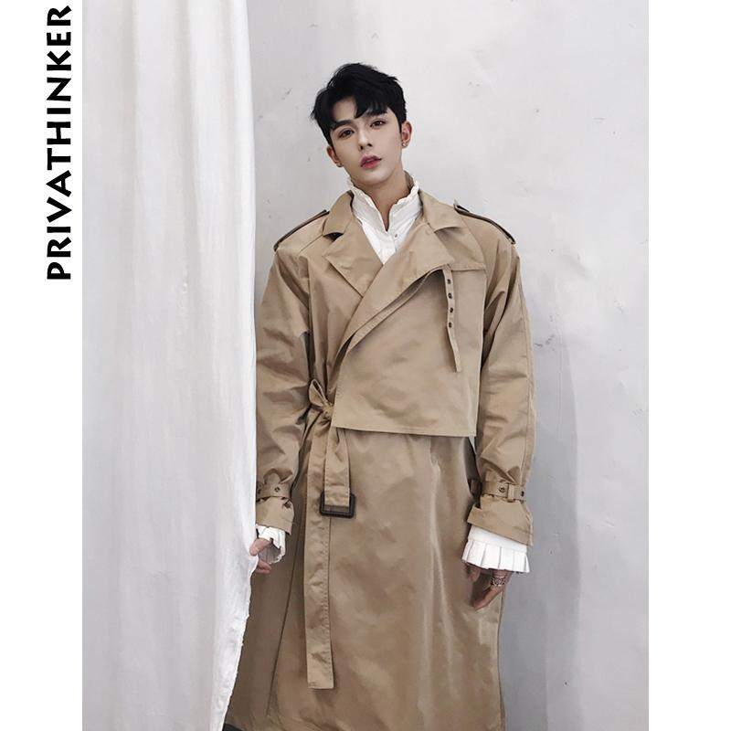 37874800063 2019 Trench Coat Men Designer 2018 Mens Warm Long Jacket Belt Windbreaker  Male Korean Fashions Autumn Winter Clothes From Splendid99