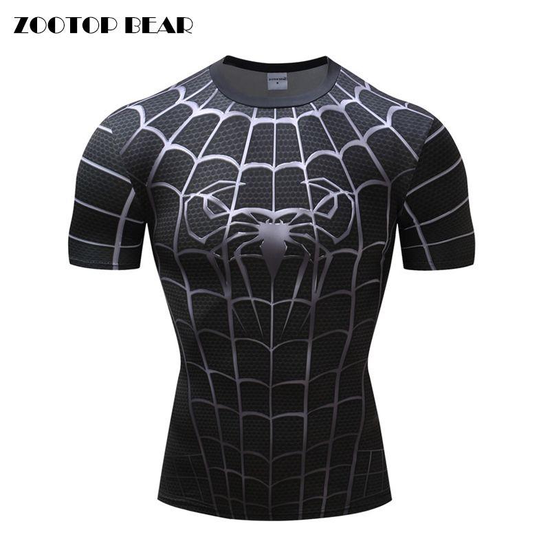 Compre Spiderman 3D Imprimir Camisetas Camisas De Compressão Dos Homens  Camisas De Fitness Superhero Tops Traje De Manga Curta De Fitness Crossfit  T Shirt ... 71072619f7ce6