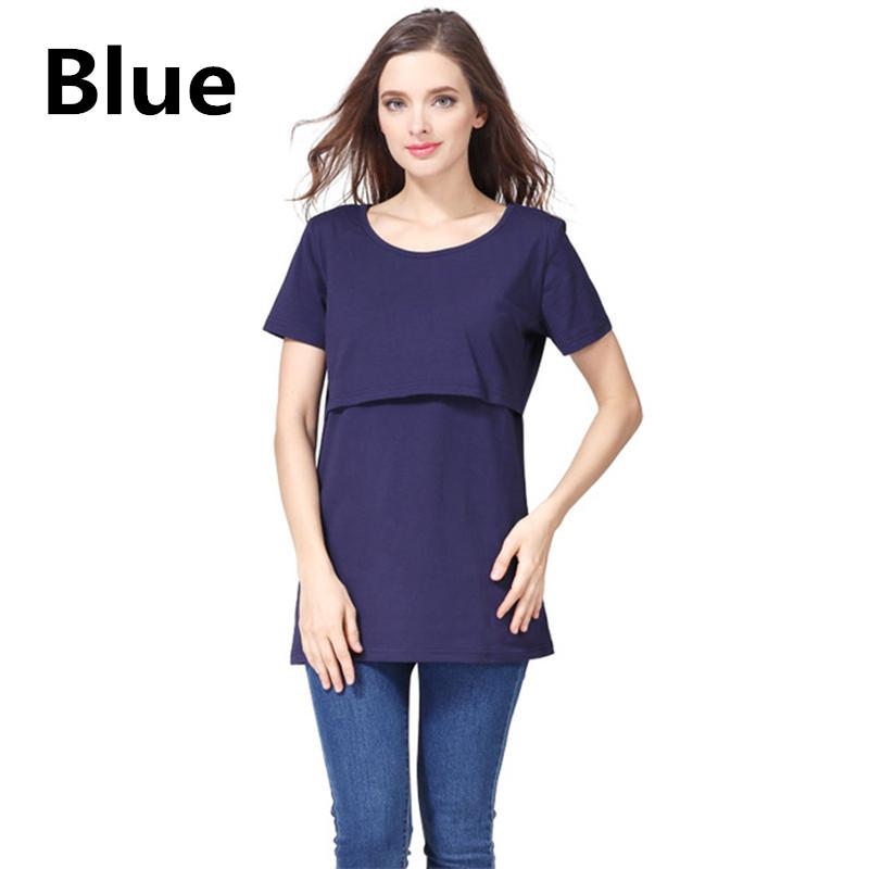 7f9bb2b57a56d US Maternity Clothes Nursing Top Breastfeeding T-Shirt For Pregnant Women  Casual Maternity Nursing