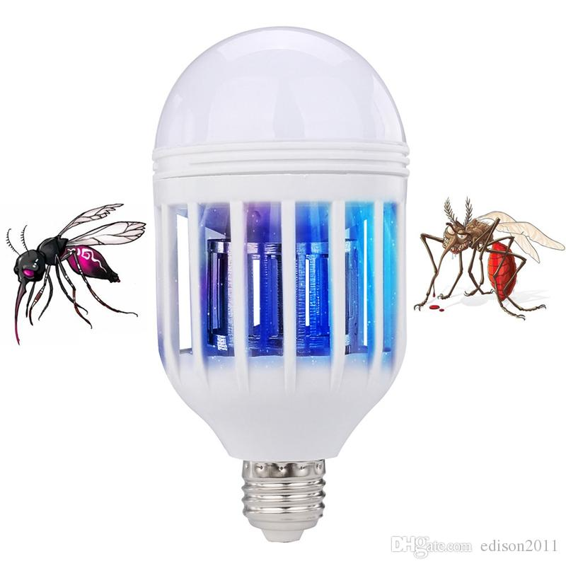 Edison2011 Electric Trap Light Indoor 2 Modes 15W E27 LED Mosquito Killer Lamp Bulb Electronic Anti Insect Bug Wasp Pest Fly Greenhouse