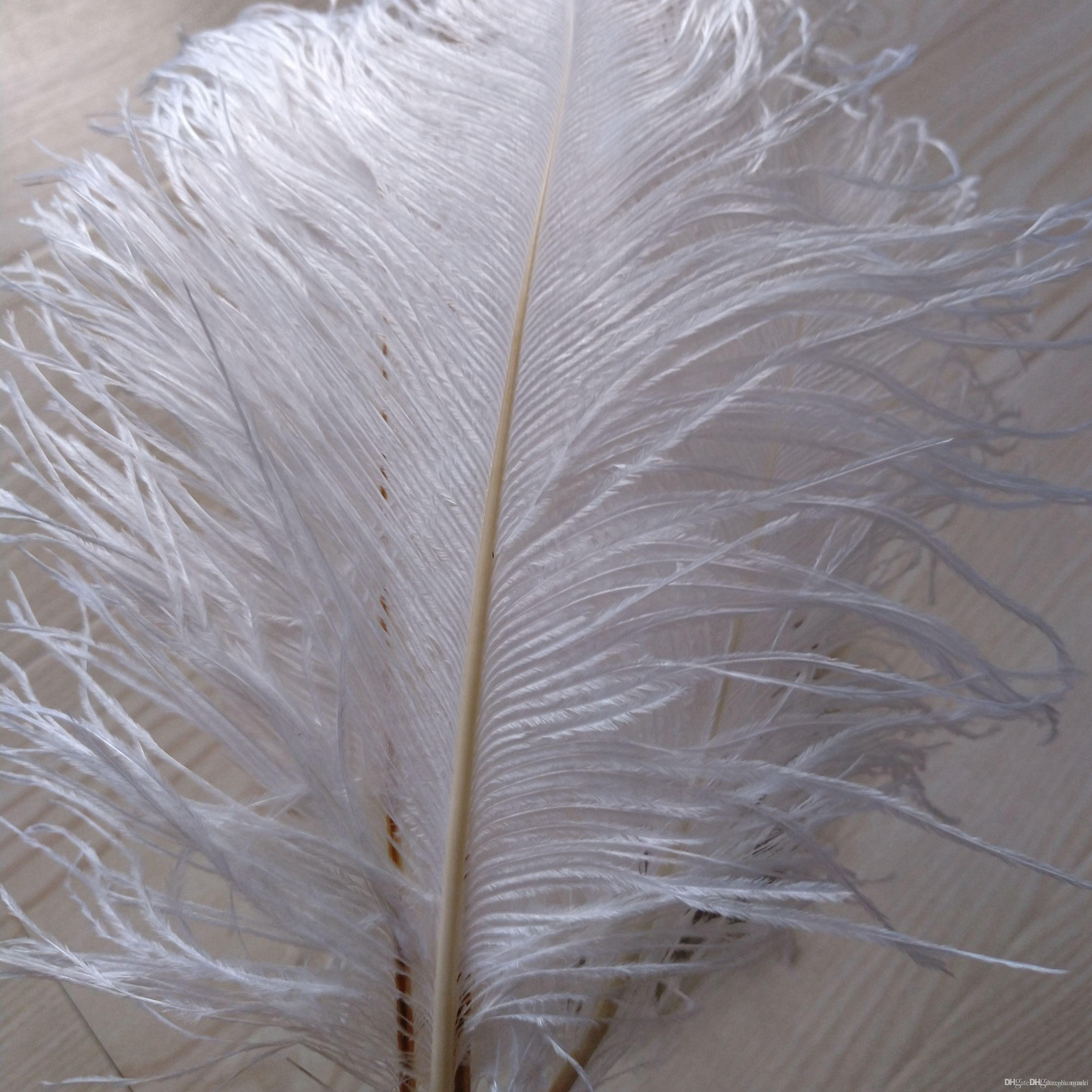 Marki whole 2020 sale 200pcs/lot 8-9inch White Ostrich Feather Plume,Wedding Feather Centerpieces Home decoraction party event supply z134