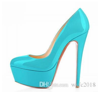 Super fashionable nightclub wind waterproof paint the bride shoes super high heels for women's shoes machine