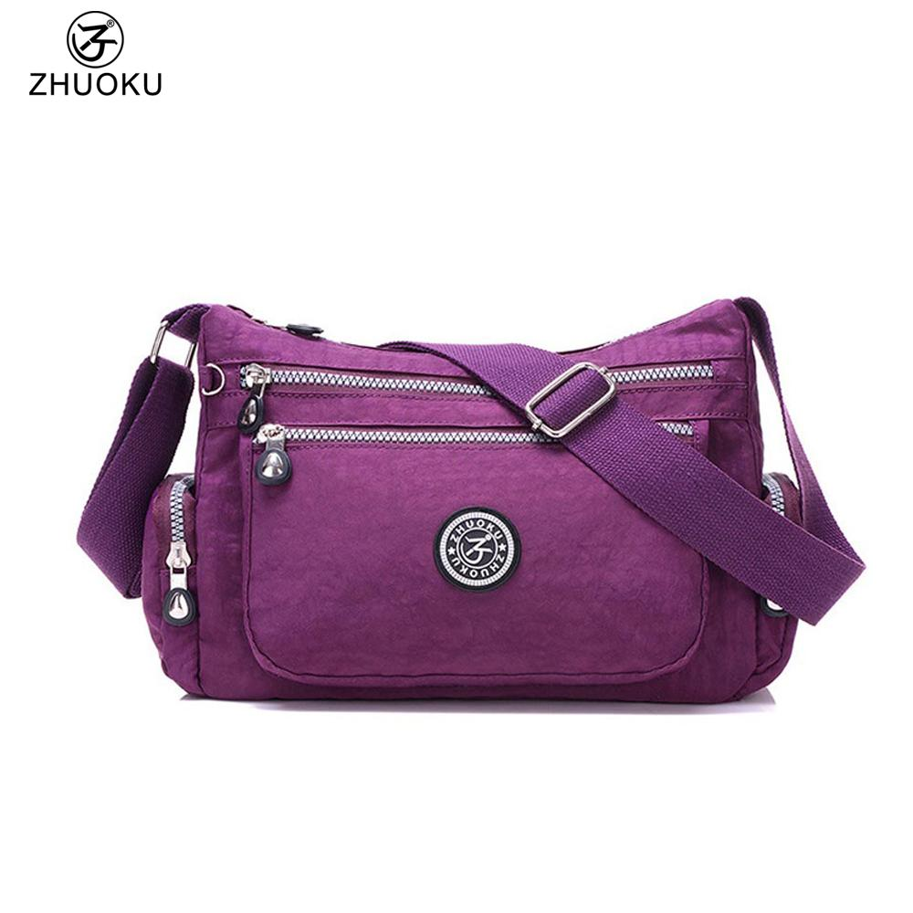 cd68587d0a ZHUOKU Women Messenger Bags For Women Travel Waterproof Nylon Handbag  Female Shoulder Bag Ladies Crossbody Bags 28x20x11cm B039 Cheap Handbags  Cheap Purses ...