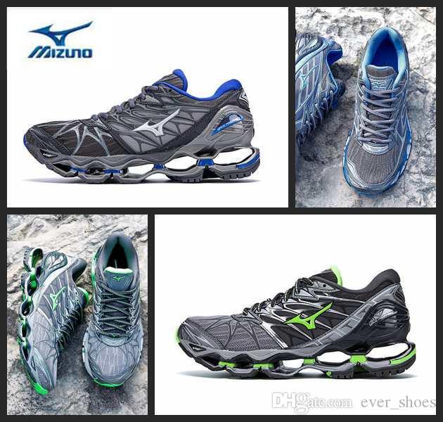 7949dd6538 Compre MIZUNO WAVE PROPHECY 7 NOVA Cinza Profissional Tênis Para Mulheres  Dos Homens Almofada Sneakers Respirável Mens Sports Designer Sapatos  Formadores De ...