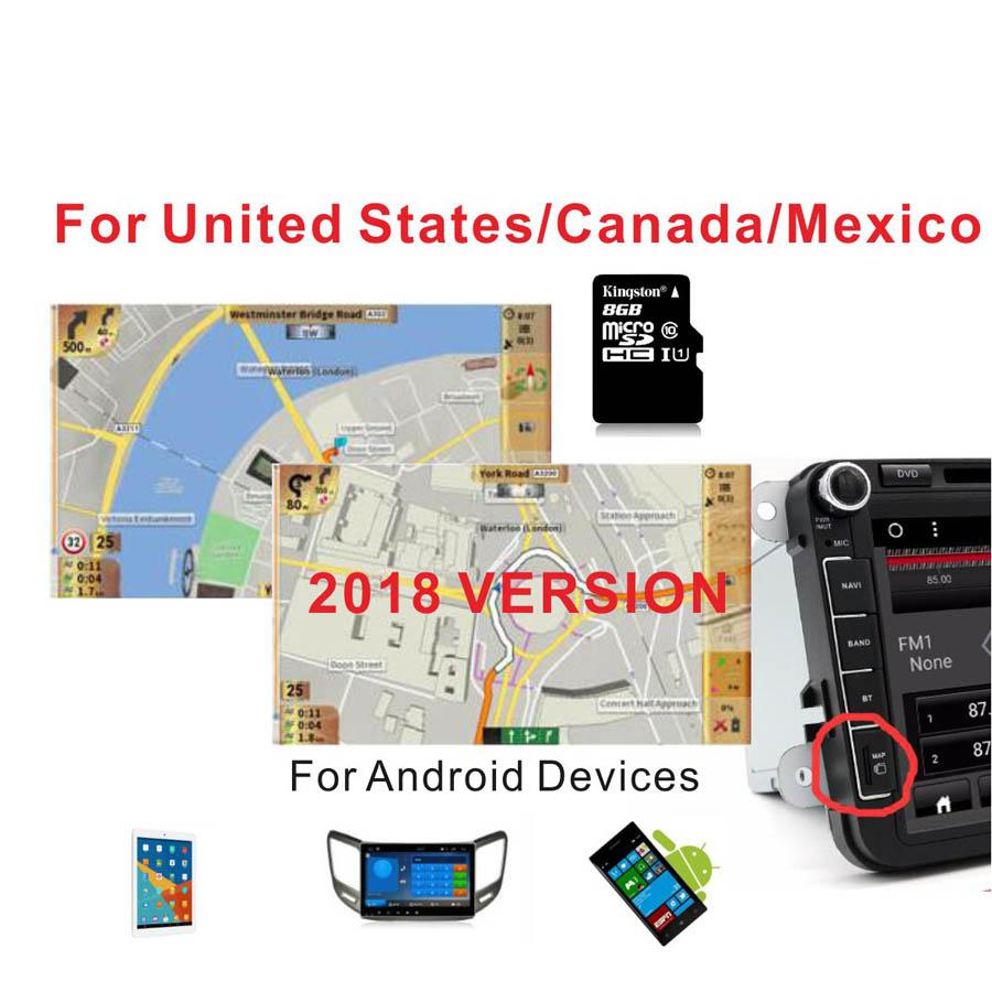 2019 2018 Version GPS MAP United States/Canada/Mexico With 8G Card Gps Mexico Map on