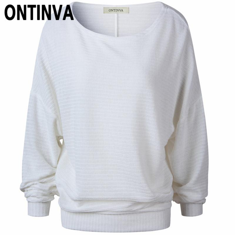 f85c1a69d087 2019 Fall Fashion Casual Round Neck Jumper For Women White Gray Blue Soild  Color Pullover Sweater Knitted Jersey Sueter Mujer Tops From Deborahao