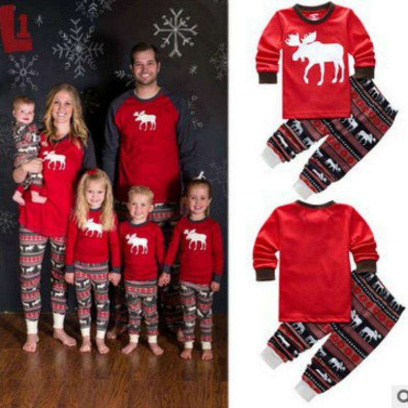 Family Christmas Pajamas, New Year Mother Daughter Outfits Family Matching  Clothes Sleepwear Red Cotton Pajama Sets Family Look - Family Christmas Pajamas, New Year Mother Daughter Outfits Family