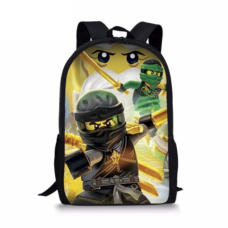9ca419e68b7d Coloranimal Anime Cartoon Boys Girl Schoolbags Backpack Funny Game Ninjago  Print Kids Rucksack Children Infant Satchel
