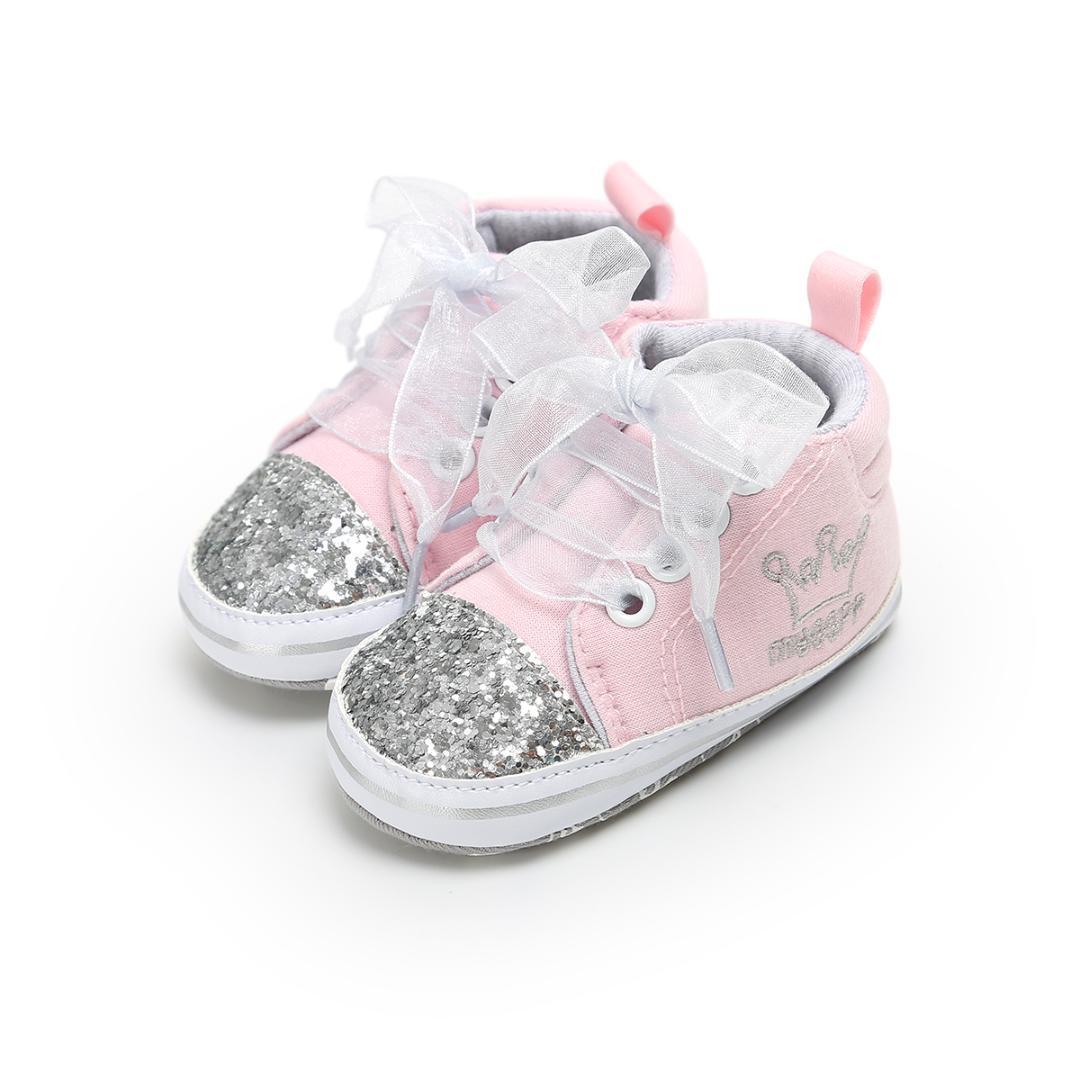 6516eb2387fef Acheter 2019 Emmababy Nouvelle Fille Mignonne Bébé Semelle Souple  Chaussures Enfant Princesse Infant Paillettes Sneaker De  36.25 Du  Universecp