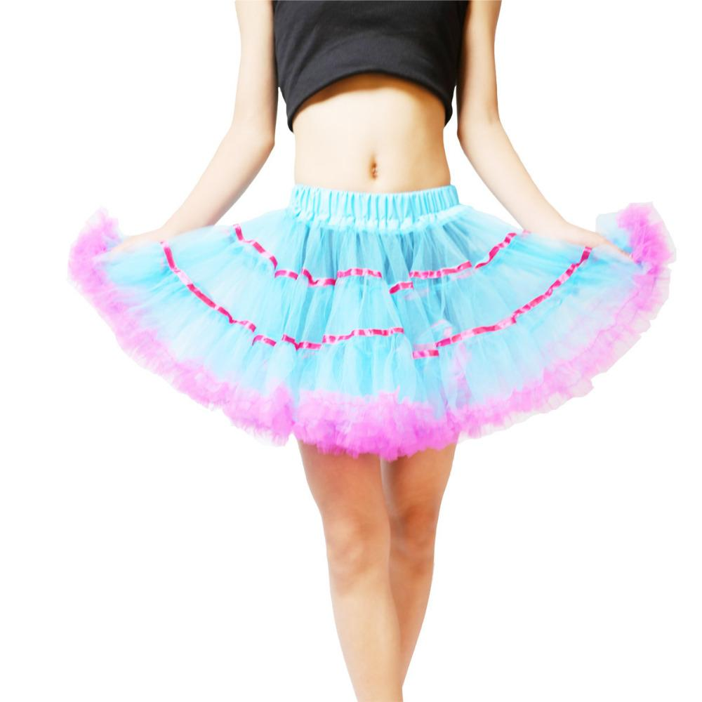Colored Mini Petticoat Short Soft Tulle Skirt Retro Vintage Women Pettiskirt Underskirt Crinoline Petticoat
