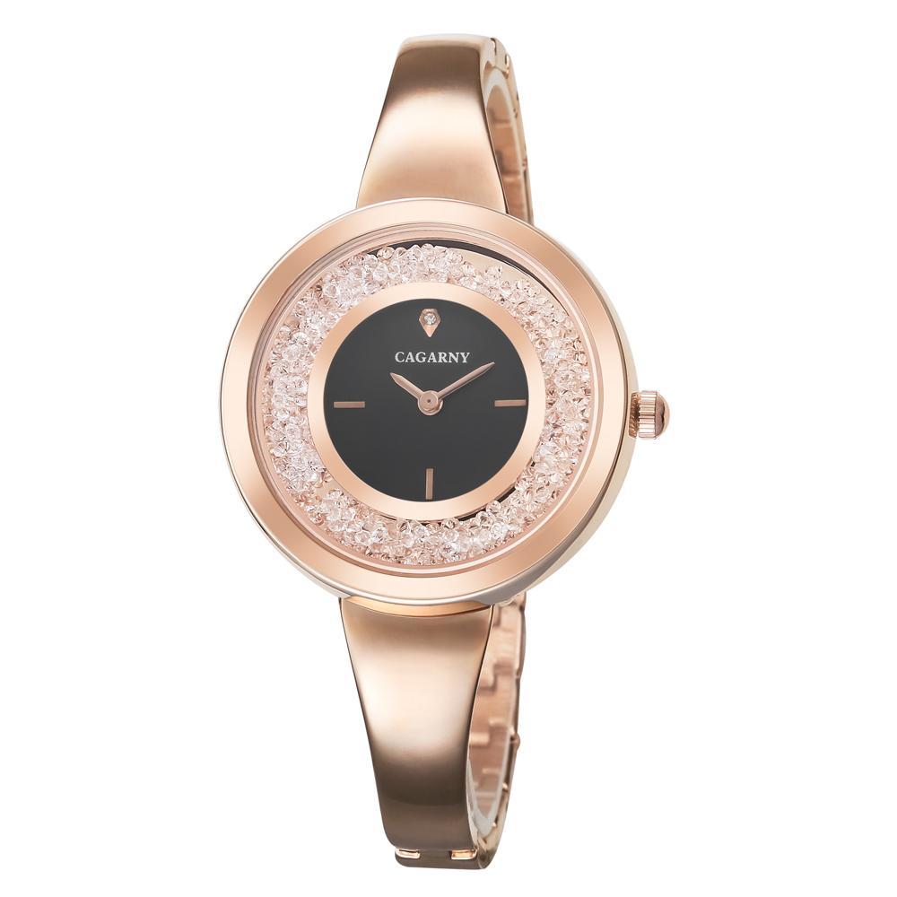 Cagarny Rose Gold Bracelet Watch Women Quartz Watches Ladies Top