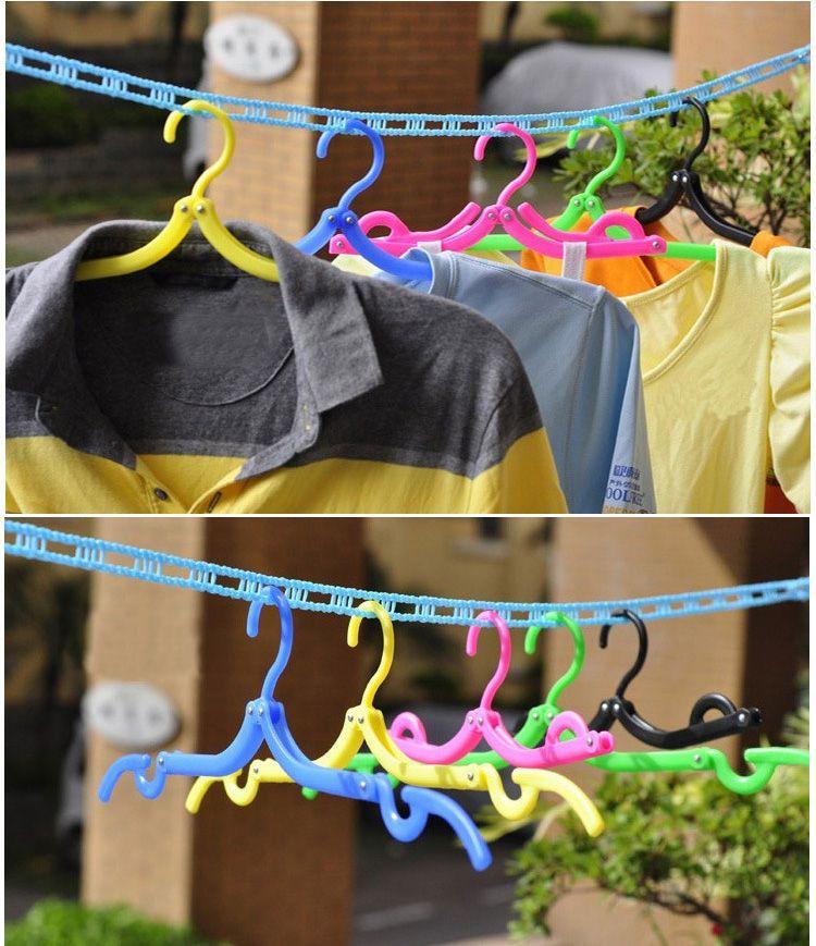 Multifunctional Hangers Space Saver Travel Portable Folding Hanger Rack Outdoor Clothes Hangers Magic Plastic Antiskid Racks WX9-612