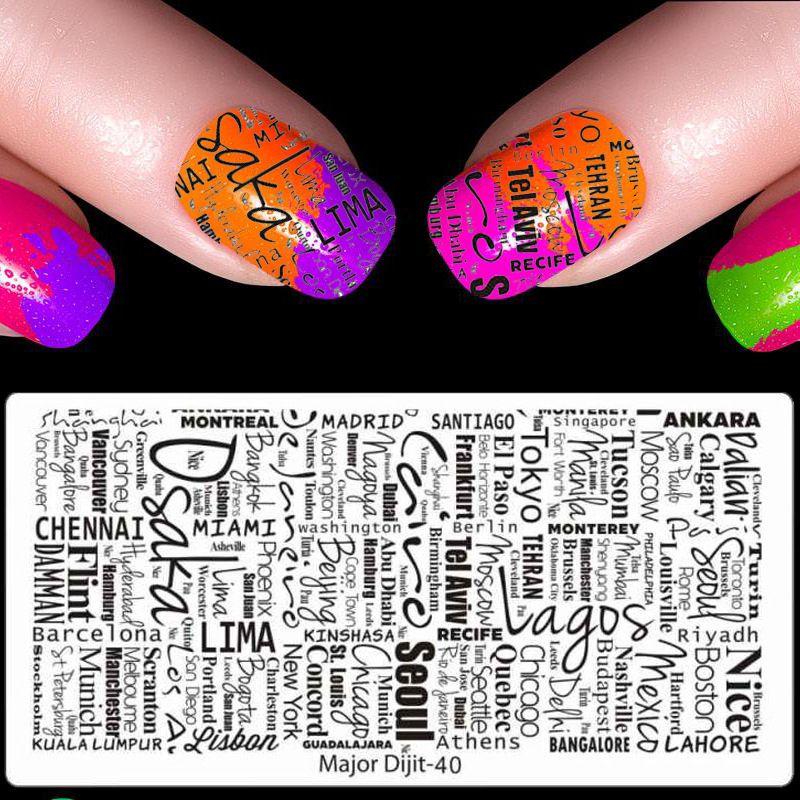 Nail Art Hollow Laser Sticker Stamp Stencil Set Gel Polish Nail