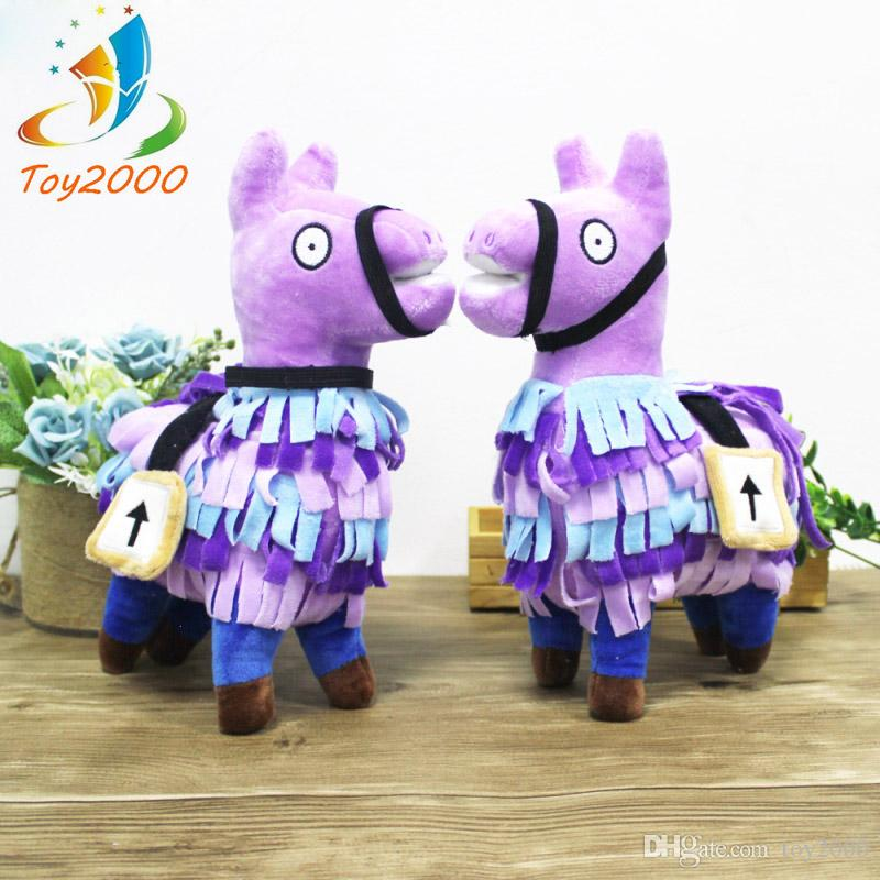NEW Fortnite Troll Stash Llama Figure Doll Soft Stuffed Animal plush toys Fortnite Stash Llama Plush Toy cartoon Stuffed doll 25cm