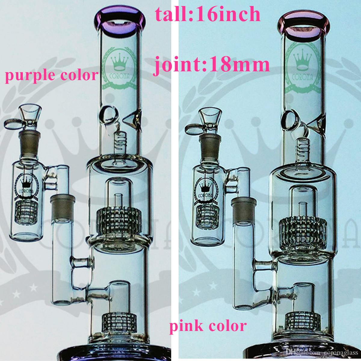Bong New Design clavos Bongs Glass Water Pipes Bongs Pyrex Water Bongs con Colorful Lips 18mm Joint Beaker Bong Pipas de agua Oil Rigs Bong
