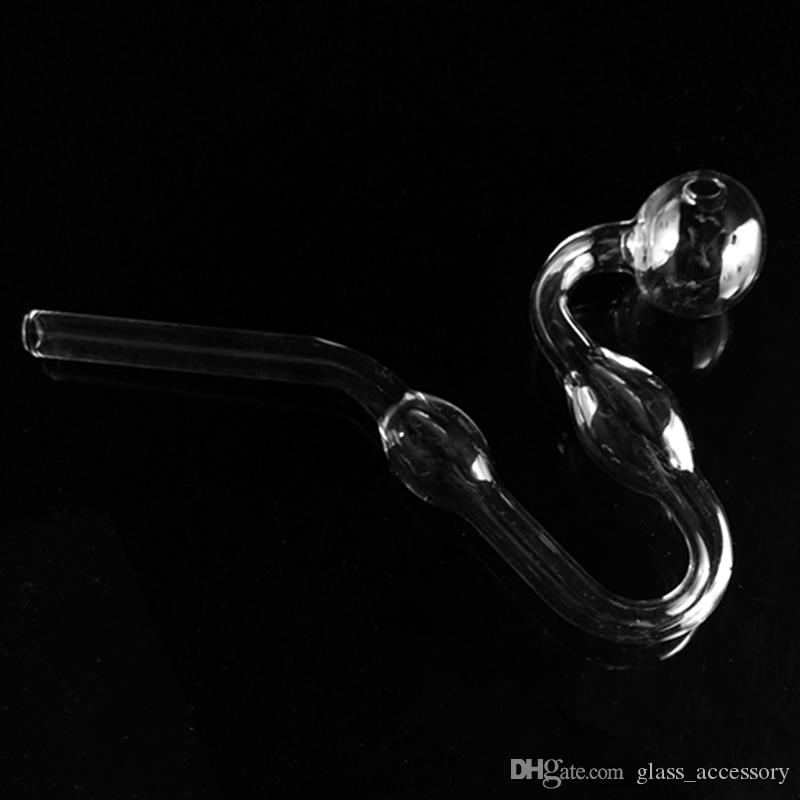 Clear Glass Oil Burner Glass Tube Oil Burning Pipe dab nail somking pipes water pipes