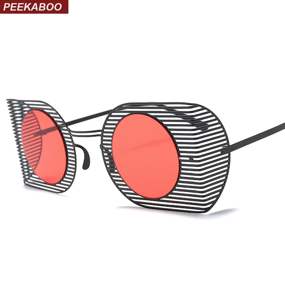 b23463307d7 Peekaboo Square Shield Sunglasses Round Women 2018 Red Black Pink ...