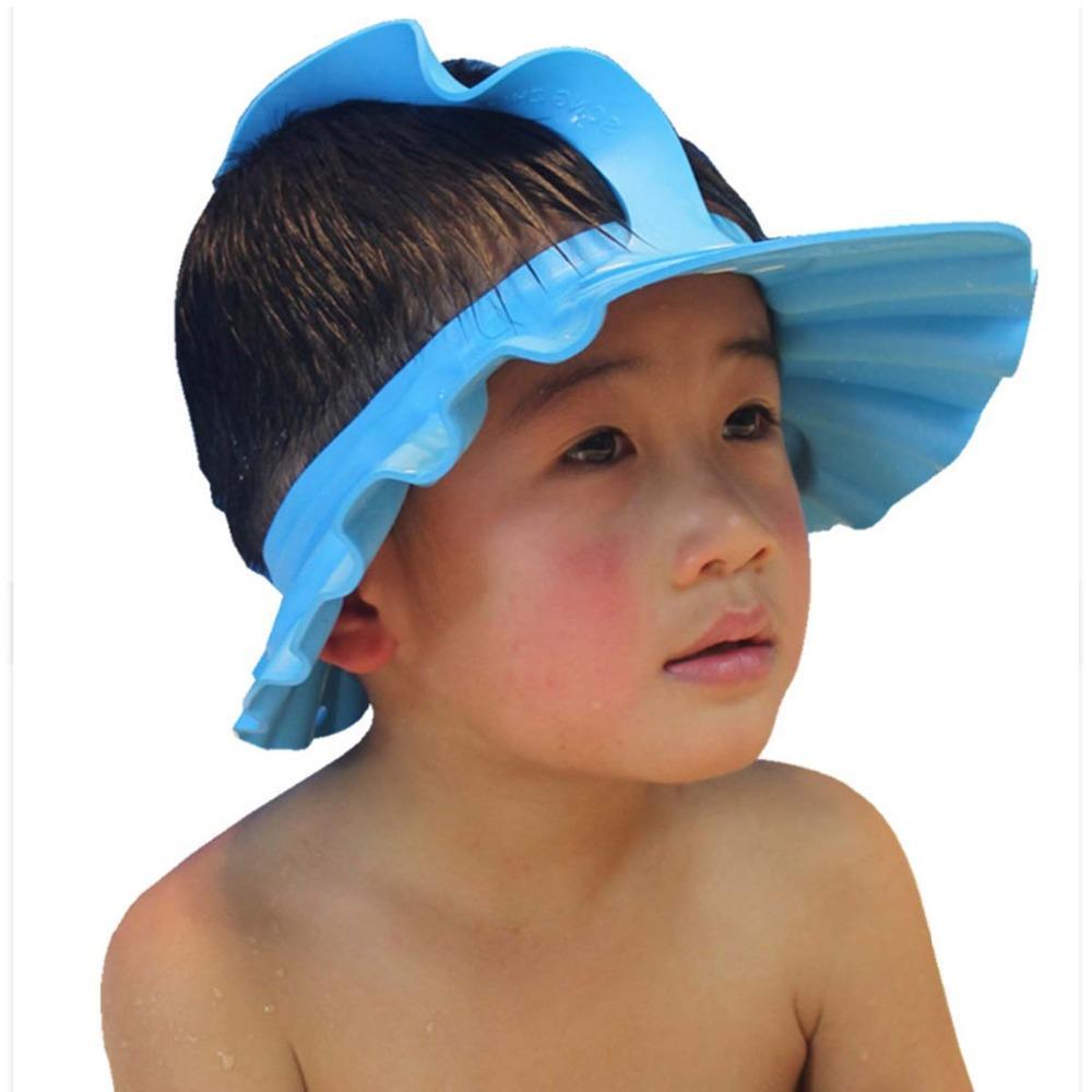 483a07559b5 Acheter Enfants Laver Chapeau Imperméable Douche Doux Laver Bouclier  Cheveux Shampoo Cap Bain Version Mise À Jour Bébé Infant Soins Baignade  Protéger De ...