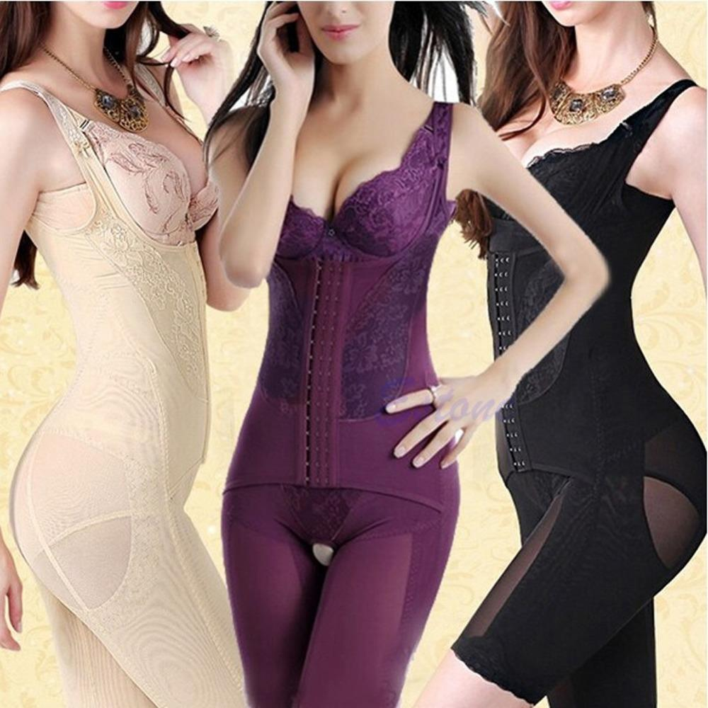 Sexy Women Seamless Full Body Shaper Waist Corset Underbust Girdle Cincher Control Belly Lift Firm Tummy Suit Underwear