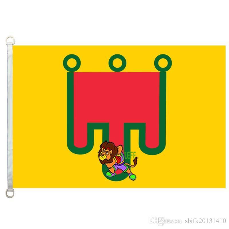Bandeira de Auvergne, 90 * 150CM, 100% poliéster, banner, Impressão Digital