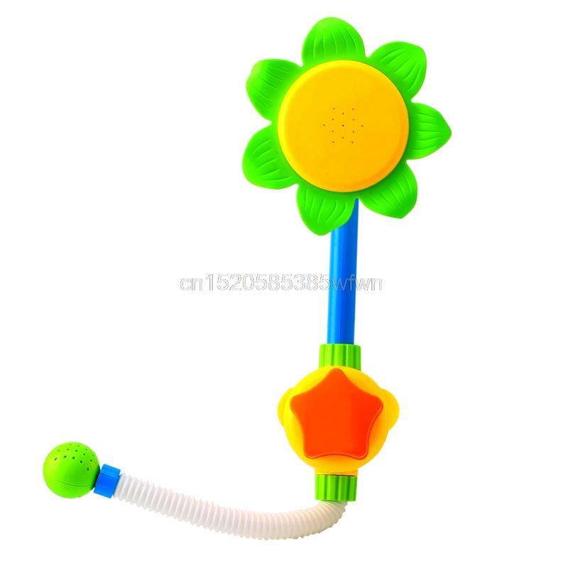 Children Baby Bath Toys Sunflower Bath Water Faucet Shower Gift ...