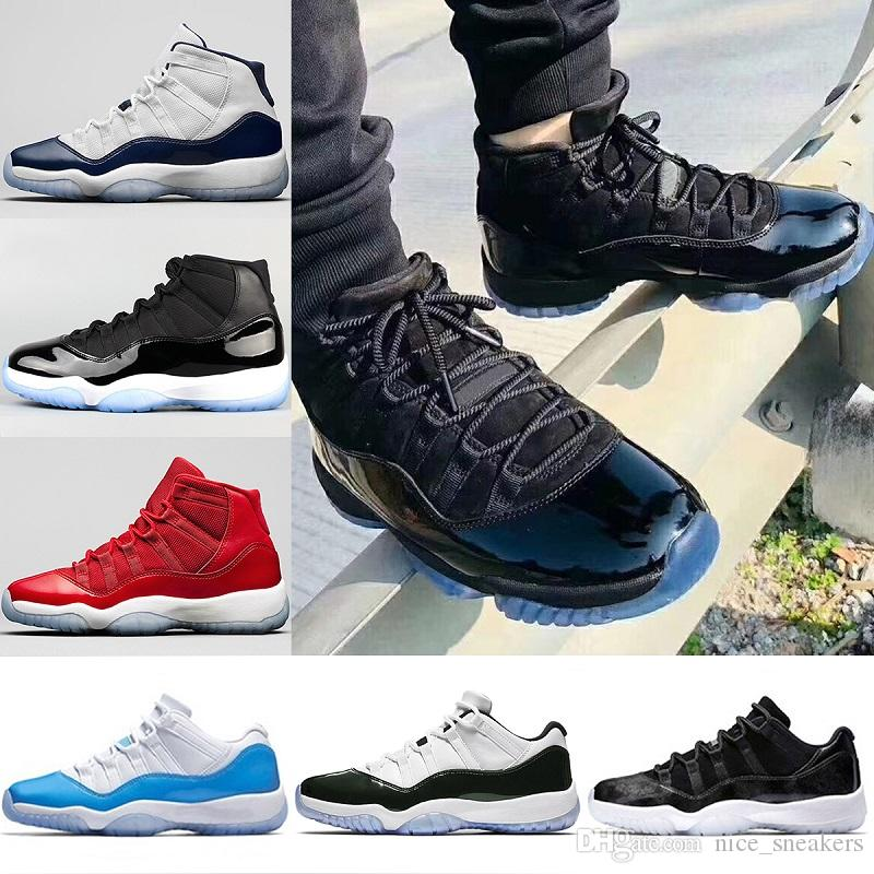 72af22d78c3 2018 Mens 11 11s Basketball Shoes Prom Night Concord 45 UNC Gym Red Black  Barons Bred 72 10 Gamma Blue Sporst Sneakers Eur 36 47 Cp3 Shoes Kids  Sneakers ...