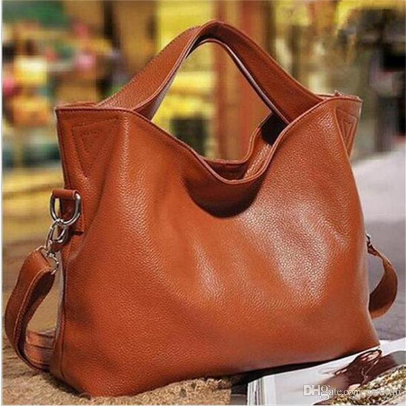 Wholesale- 2016 New Fashion Women Messenger Bags Genuine Leather Women's Shoulder Bag Crossbody Bags Casual Famous Brand Ladies Handbag