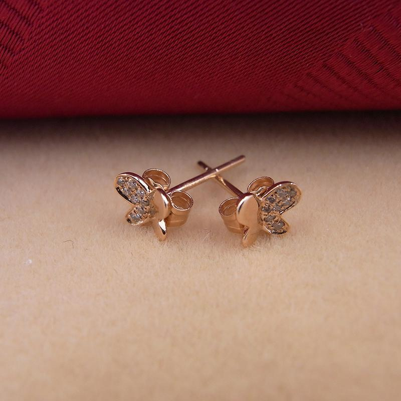 c872f8e864430 Sinya 18k Gold Diamond Stud earring Rose gold Butterfly fashion design high  luster fine jewelry for women ladies girls Hot sale