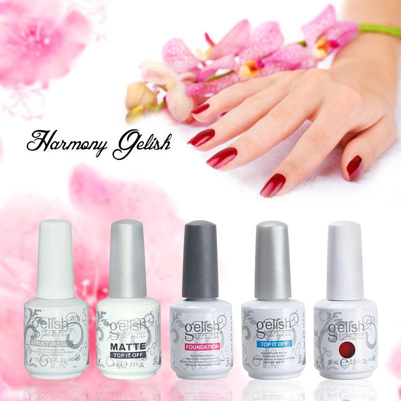 High quality Harmony Gelish nail polish colors Top and Base coat LED UV Gel  nail polish gelish Nail art lacquer Soak off