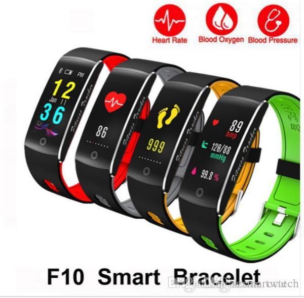 Newest Corol Smart Movement Bracelet F10 Sports Pedometer waterproof IP68 Swimming smart band Heart rate Monitor Fitness track Wristband F07