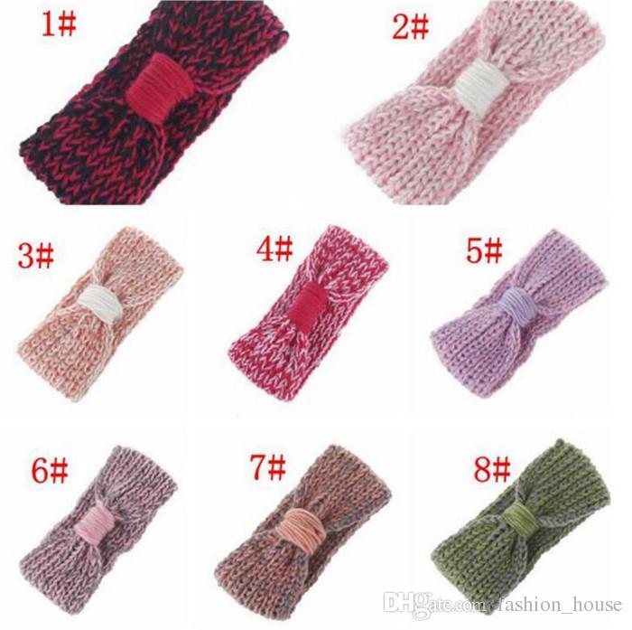 Compre Diadema Bebé Knit Crochet Top Knot Baby Girls Head Wrap ...