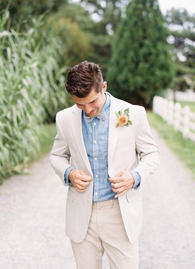 Veste de costume en lin blanc