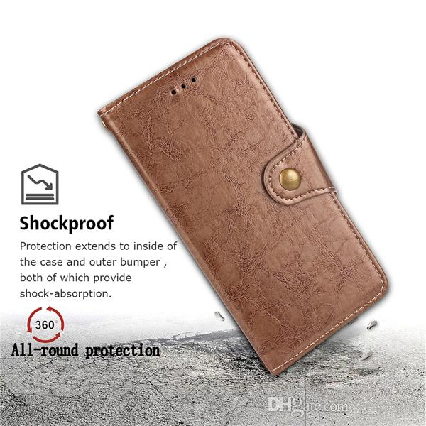For Sony Xperia XZ XZ1 X1 XZ2 Compact Oneplus 3 OPPO R15 Dream Mirror Standard Retro Oil Wallet Leather Case Stand Flip Phone Cover