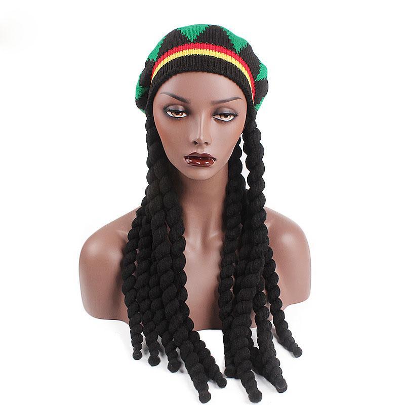 2018 New Men Women Rasta Hat Dreadlocks Wig Bob Marley Caribbean Fancy Dress  Prop Unisex Knitted Beanie Hat Beanie Cap Watch Cap From Clintcapela 4e3aeb871