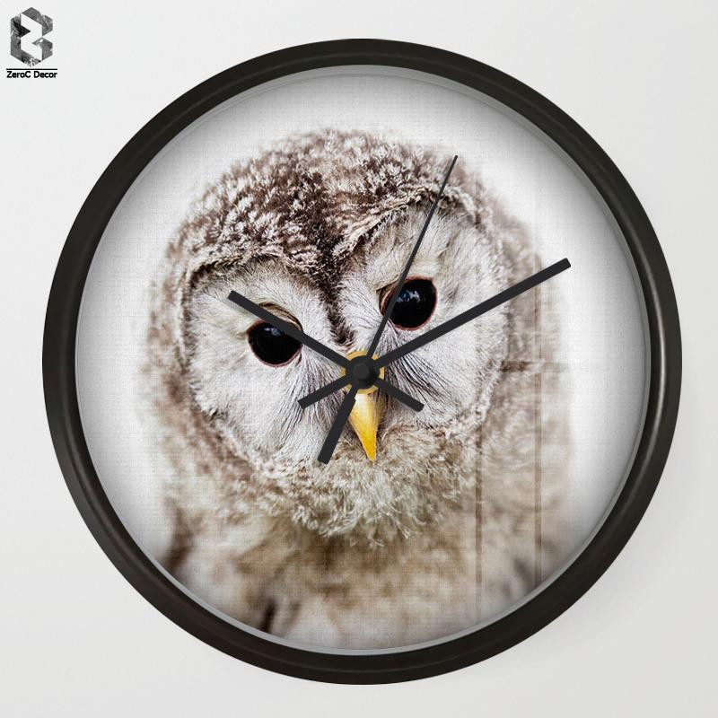 Chic Art Wall Clock Owl For Kids Room Wall Decor Table Decorative
