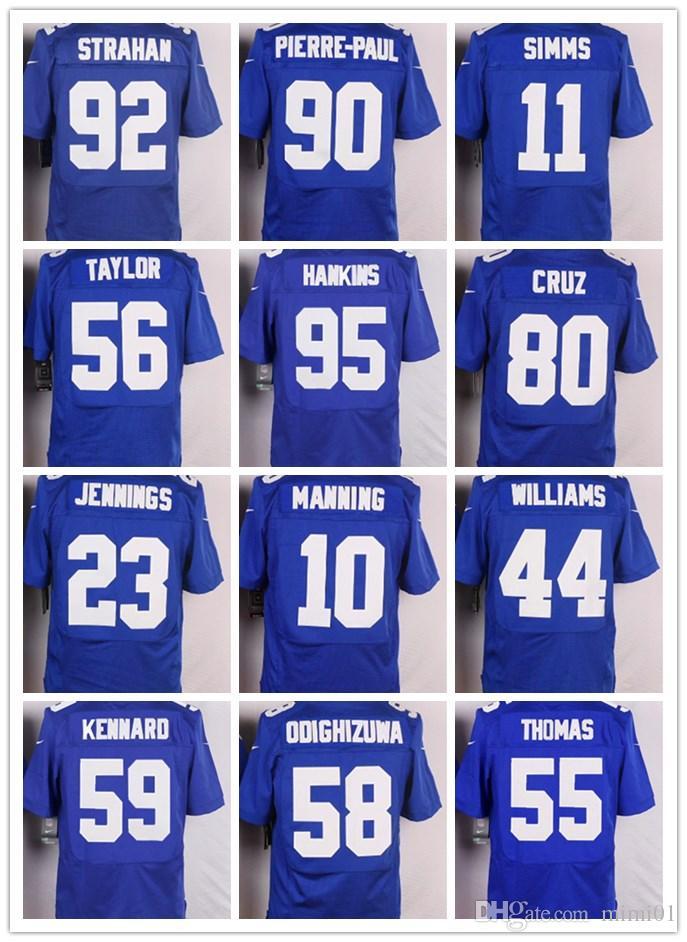 newest collection a41f7 ceec7 GIANTS NEW YORK #13 Odell Beckham Jr #21 Landon Collins 10 Eli Manning 15  Brandon Marshall Men Women Youth Color Rush Elite Football Jerseys