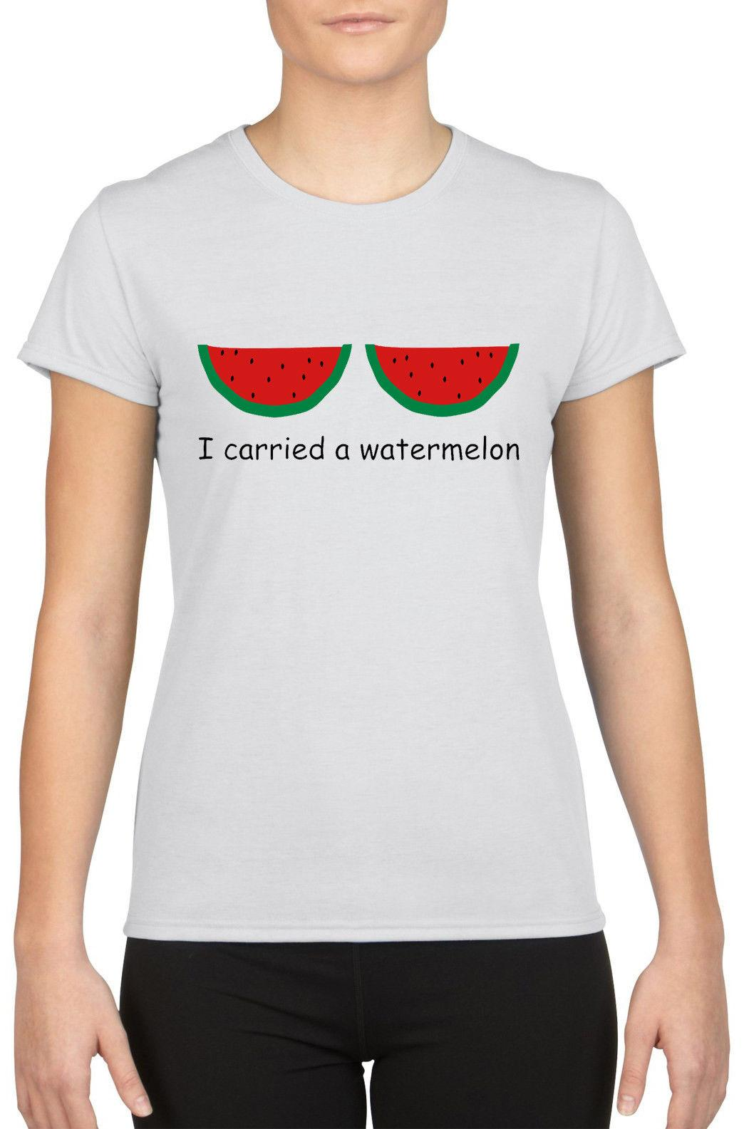 bab3b0dc9 I Carried A Watermelon Boobs Clothes Funny Quotes Slogan Women T Shirt W846  Cartoon T Shirt Men Unisex New Fashion Tshirt Loose Printed T Shirt Funny T  ...