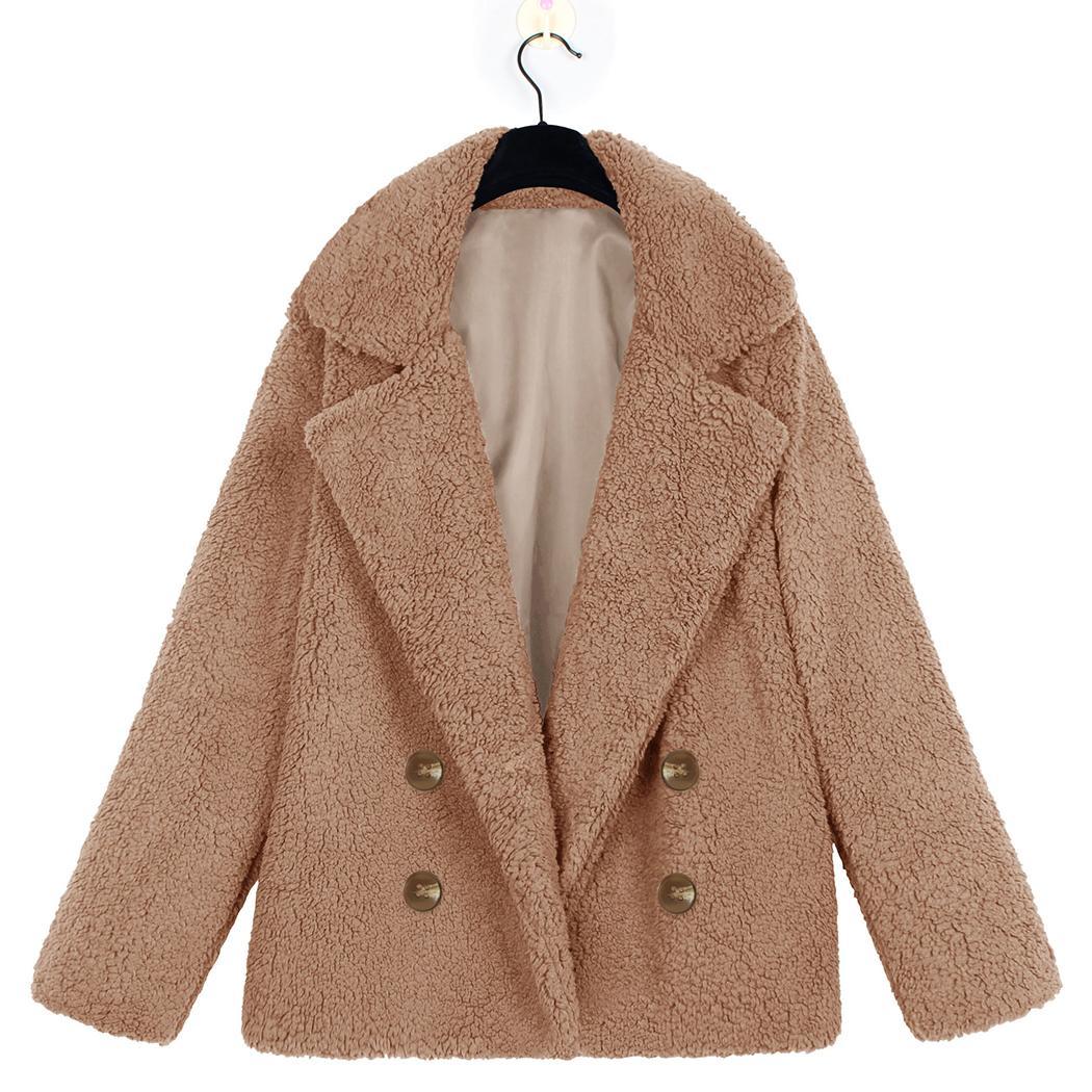 1083ff8f471 New Winter Warm Soft Teddy Bear Coat Jacket Women Elegant Faux Fur Coat  Harajuku Button Fur Jacket Casual Fluffy Plush Overcoat S112 UK 2019 From  Ruiqi03