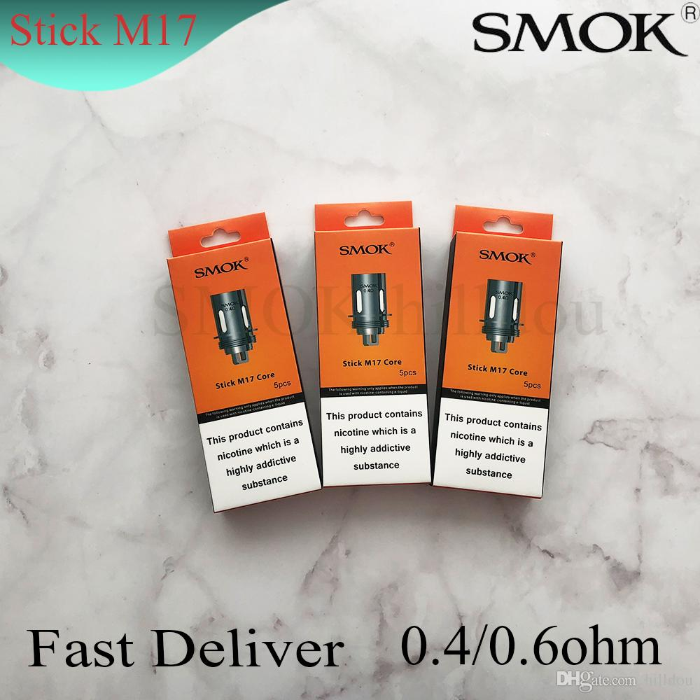 US Stock 5Pcs SMOK Stick M17 Replacement Coils 0.4//0.6 Ω Coils for Stick M17