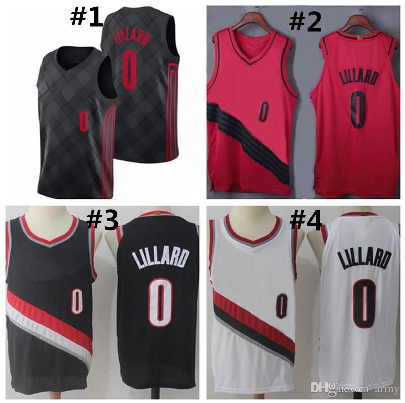 watch c4d2d c655f Superior Quality Men s Basketball Jersey 0 Damian Lillard Shirt Mens  Jerseys S M L XL Basketball Jerseys free shipping
